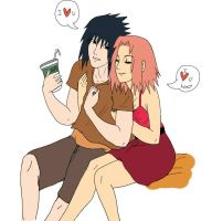 OLD TIMES sasusaku by polale21