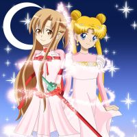 .: Princess Serenity and Princess Asuna :. by Sincity2100