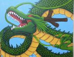 Shenron Painting by The-Dreaming-Dragon