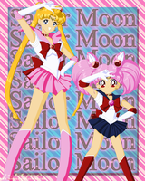 sailor moon and chibi moon by Yettyen
