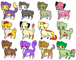 Pokemon Cat Adoptables 3 by rongothepony