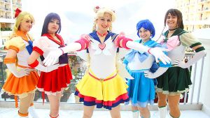 Inner Senshi with Moon by Starshadow81