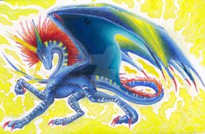 ACEO Lightningburst by Windspirit-Aquaeris
