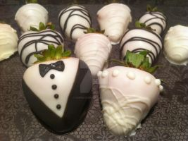Bride and Groom Strawberries by Corpse-Queen