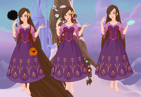 Saby as Rapunzel by pumba87