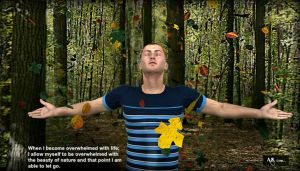 Marco in raining leaves  By Anena Studios by ANenaStudios