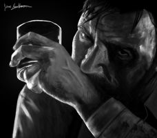 Max Payne black and white by RonaldFide