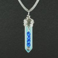 Opalite and Silver Pendant by sylva
