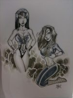 CON2010 Wonder-Woman and MJ by billmausart