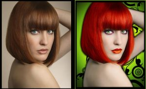 Before and After - Red Hair by noema-13