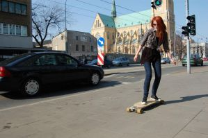 City longboarding by killashandra-ree