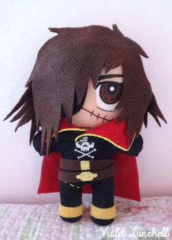 Captain Harlock plushie by VioletLunchell