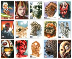 Star Wars Sketch Card Assortment by Erik-Maell