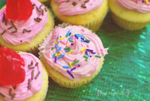 Pretty pink cupcake by love-in-focus-Photo