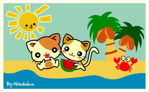 Beach Cat by Tamabit