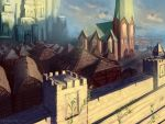 Medieval Castle Town by Lyraina