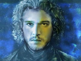 Digital Painting of Jon Snow by Alexander Deboir by Deboir