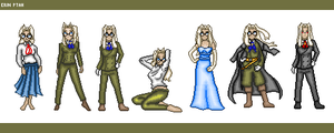 Pixel Dolls - Integra Hellsing by ErinPtah