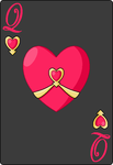 Queen of hearts card by Cerulebell