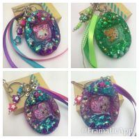 Tamagotchi Resin Charms by TiellaNicole