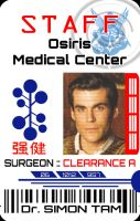 Simon Tam Osiris Medical ID Badge by ajb3art