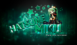 Hatsune Miku Stars Logo/Wallpaper by Kiwaso