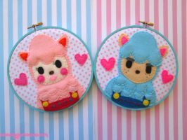 Reese and Cyrus Embroidery Hoop Set by iggystarpup