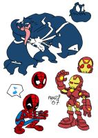 Marvel Doodles by EnterPraiz