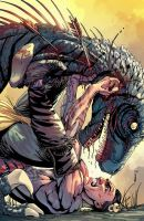 Turok:Dinosaur Hunter Issue#3 Cover by panelgutter