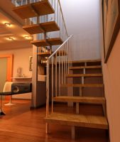 Interior with a stairway 6 by Ultrarender