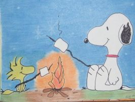 Snoopy and Woodstock by E-H-Redlum