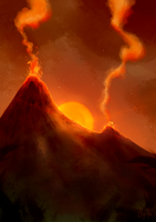 Volcanic red by Lily-Fu