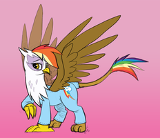 Commission - Rainbow Gilda by PaperCutPony