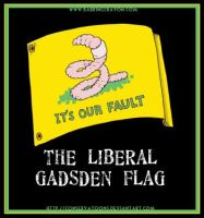 Liberal Gadsden Flag by Conservatoons