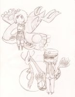 Gijinka and Pokemon by Pencil-Only