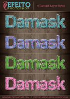 4 Colorful Damask Text Styles by Romenig