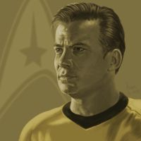 Star Trek TOS portrait series 01 - Kirk - Shatner by jadamfox
