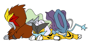 Pokemon - Sleepy Legendaries by NezuKunoichi