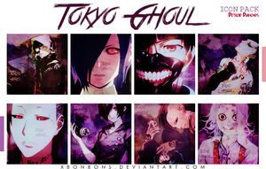 Pack Icons Tokyo Ghoul by xBonbons