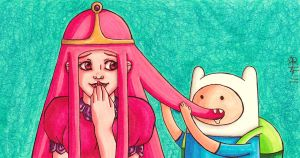 Why Finn REALLY likes Princess Bubblegum by kataiya