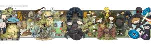 Return of the Jedi Star Wars Celebration print by katiecandraw