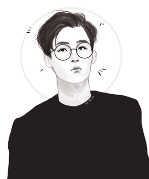 yjh w short hair and glasses by kkojika