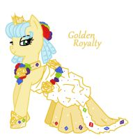 MLP: Golden Royalty and her Gala Gown by YouAskMeFirst2
