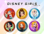 Disney Girls Badges by Moemai
