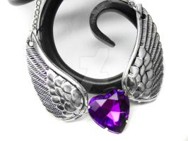 Purple Angel Wing Necklace by pila12903