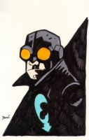 Lobster Johnson Sketch. by hedbonstudios