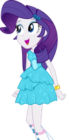 Rarity arrive at the party EG by aqua-pony