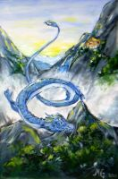 Blue dragon by princetheripper33