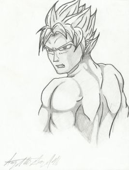Goku supersaiyan practice by legnaus