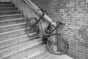 Biking up the stairs by overlookedbeauty